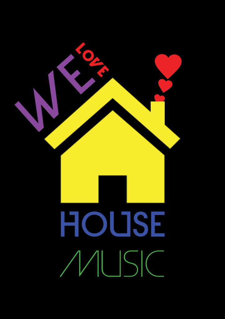 I love house poster template